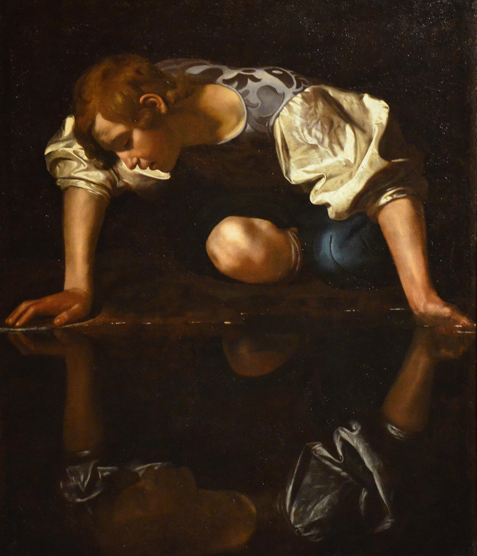 Narcissus_by_Caravaggio_1597–1599_Galleria_Nazionale_dArte_Antica_21836123485